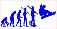 """ SNOWBOARD EVOLUTION"" SNOW SKIING-CAR/VAN/,SAXO,CLIO,MINI-STICKER-DECAL"