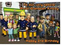 Personalised A5 Fireman Sam Birthday Card Any Relation Age Daughter Grandson Son