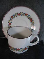 Royal Doulton  HOLIDAY CUP AND SAUCER SET tc1110