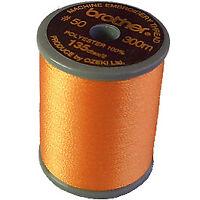 Brother satin finish embroidery thread. 300m spool PUMPKIN 126