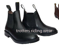 size 8 ladies horse riding leather jodhpur/jodphur boots black size 8