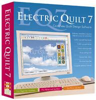 EQ7 Electric Quilt 7 Brand NEW Design Software Applique Windows PC Quilting Tool