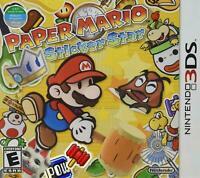 NEW Paper Mario: Sticker Star  (Nintendo 3DS, 2012) Video Game