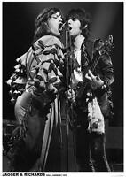 "Mick Jagger/Keith Richards - Köln, Germany 1976  -   33"" x 24""  POSTER"
