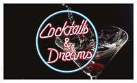 bb336 Cocktails & Dreams Bar Pub Banner Shop Sign