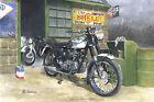 Triumph Bonneville British Rocker 1960s Motorbike Motorcycle Blank Birthday Card