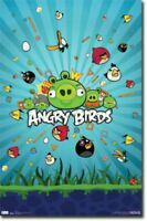 ANGRY BIRDS GROUP ELECTRONIC CELL PHONE VIDEO GAME NEW POSTER 22x34 FREE SHIP