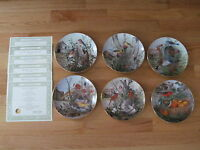 SET OF 6 BIRD COLLECTION PLATES CECIL EAKINS FRANKLIN MINT