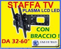 STAFFA PER TV TELEVISORE LCD PLASMA SUPPORTO GIREVOLE !! ESTENSIONE BRACCIO 65CM