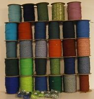 PARACORD 550 TYPE III 7 STRAND COLORS 1-30 MADE IN THE USA 10',20', 50', 100'
