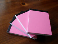 24 X HANDY PINK A6 PAPER PLAIN WHITE MINI JOTTER/ NOTEPADS/ POCKET NOTE PADS