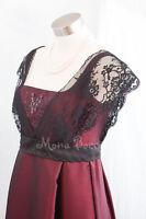 Edwardian Christmas Titanic evening dress Handmade in UK Rose dress 16 UK 12 US