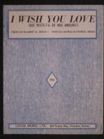 CHARLES TRENET - 60' sheet music -I WISH YOU LOVE, 60's Hit