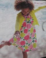 NUEVO Mini Boden Botones Vestido 2 3 4 5 6 7 8 9 10 años Algodón Floral