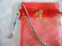 baby shower christening party pair feet tibetan silver handmade bookmark gift