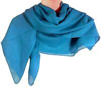 Halstuch 100 x 100 cm türkis einfarbig Baumwolle Uni Tuch Kopftuch PORTOFREI