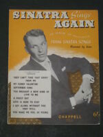 FRANK SINATRA SONG BOOK, SINATRA SINGS AGAIN,8 SONGS,MUSIC AND WORDS