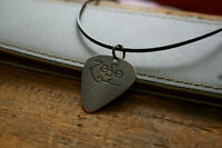 Hand Made Etched Copper Guitar Pick Necklace - Zoso - Jimmy Page - Led Zeppelin