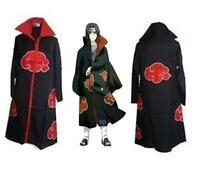 HOT Japan Anime Naruto Cosplay Akatsuki Ninja Uniform/Costume/Cloak/Good quality