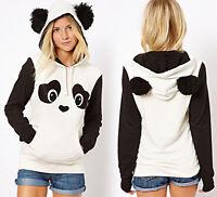 Women Lovely Panda Animal Ears Hoody Hoodies Pullover Tracksuit Top Sweatshirt