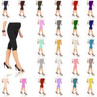 Womens Ladies Cropped Very Comfortable Maternity Leggings 3/4 Length Preganancy
