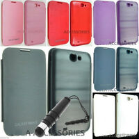 BATTERY BACK LEATHER FLIP POUCH COVER CASE FOR SAMSUNG GALAXY NOTE II 2 N7100