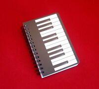 Piano Keyboard Design MEMO PAD NOTEBOOK Music Stationery Gift Teacher Musician