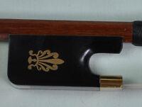 New Pernambuco Cello Bow Ebony Frog Fleur-de-lys gold mounted Round 4/4 F10
