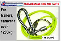 INDESPENSION TRAILER BREAKAWAY BRAKE SAFETY CABLE STAY LEGAL SAVE A FINE POINTS