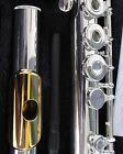 NEW Gemeinhardt 3B Silver plated Flute, GOLD LIP, Open-Hole, B-foot, inline G