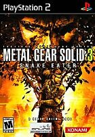 PlayStation2 Metal Gear Solid 3 Snake Eater VideoGames ***NEW***