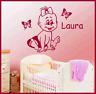 Wandtattoo Aufkleber Sticker Baby Kind mit Wunschname für Kinderzimmer Tür