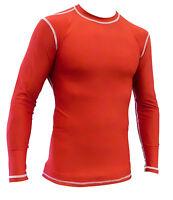 Long Sleeve Red Rashguard / Plain longsleeve rash guard FREE SHIPPING in USA