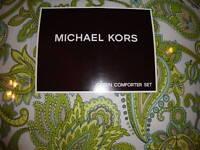 MICHAEL KORS~BERMUDA GREEN~4 piece QUEEN COMFORTER SET~NEW