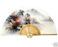 Fächer Handfächer Papier Bambus Wand Dekor Muster Japan