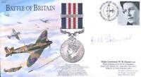 BB14e WWII Battle of Britain RAF cover hand signed BoB pilot WW2 ace SKINNER DFM