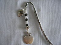 thankyou teacher apple silver handmade tibetan silver bead charm bookmark gift