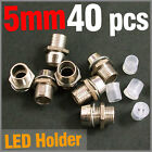 40 pcs Chrome Metal LED Rubber Base 5mm Plated Bezels Panel Display Holder Case