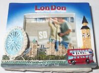 London Photo Frame Fridge Magnet Souvenir Gifts M040 Royal British English GB UK