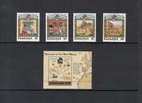 COLUMBUS/SHIPS/MAPS/FISH - Bahamas -1988 set & S/s-(SC 640-4) -MNH-X645