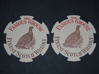 NEW 1 FAMOUS GROUSE SCOTCH WHISKY PUB HOME BAR BEER DRINKS MAT COASTER WHISKEY