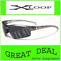 Men's gray X Loop Sunglasses XL41803 UV400 Davis H8 cycling running shades