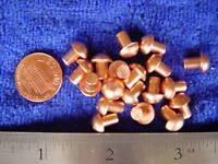25 Solid copper 3/16 X 1/4 SCA armor rivets LARP round steampunk costume head