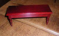 BNIB Dolls House Miniature Mahogany Wooden Long Table