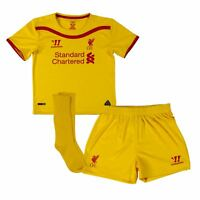 Warrior Liverpool FC Away Mini Kit 2014 2015 Infants Yellow Football Soccer Baby