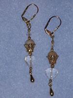 Handcrafted Artisan Crowned Heart Earrings