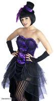 LADIES BURLESQUE HALLOWEEN SALOON GIRL  FANCY DRESS COSTUME & HAT OUTFIT 10/12
