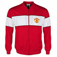 Manchester United FC Official Football Gift Mens 1985 Retro Track Jacket