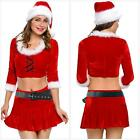 Adult Sexy Ms. Santa Suit Set Christmas Santa Claus Fancy Dress  Costume ONE