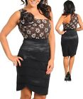 Ladies Plus Size One Shoulder Party Race Dress Size 14 XL BLACK BROWN NEW